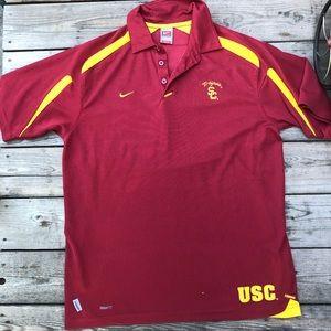 Nike fitdry USC Trojan Burgundy Polo Shirt